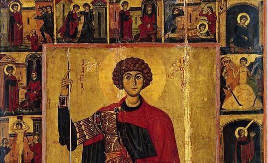 13th century icon Mount Sinai detail