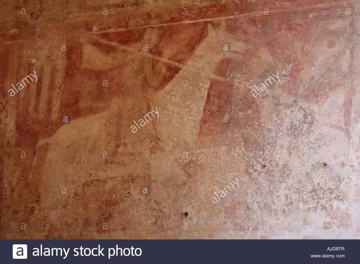 early-medieval-wall-painting-of-st-george-st-botolphs-church-hardham-AJD8TR