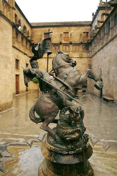 Generalitat statue of St George Tarragona