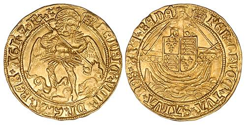 Gold noble of Henry VIII