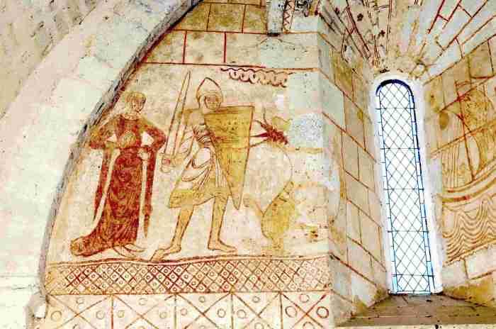 Window embrasure Temple of Cressac